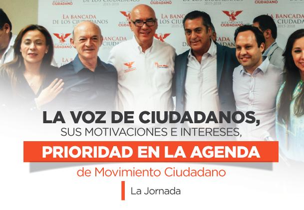 La voz de ciudadanos, sus motivaciones e intereses, prioridad en la agenda de Movimiento Ciudadano.