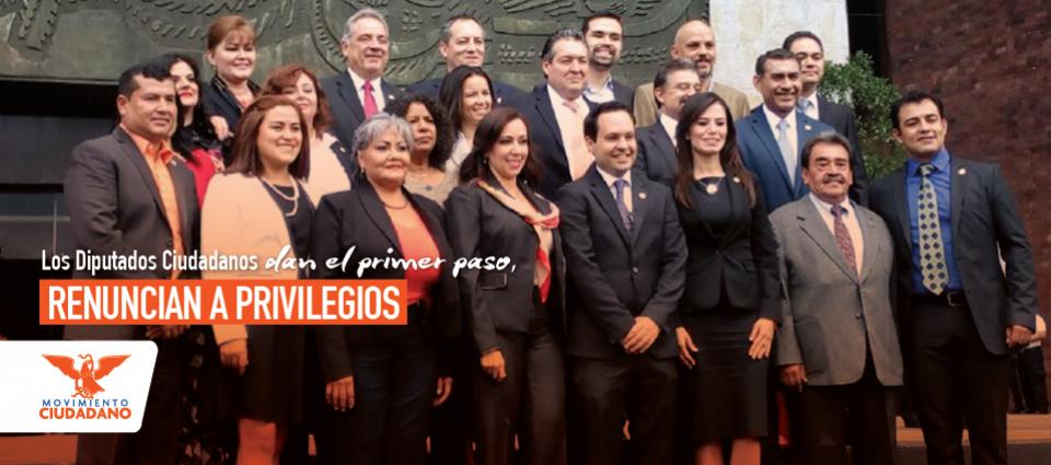 Diputados Ciudadanos renuncian a privilegios