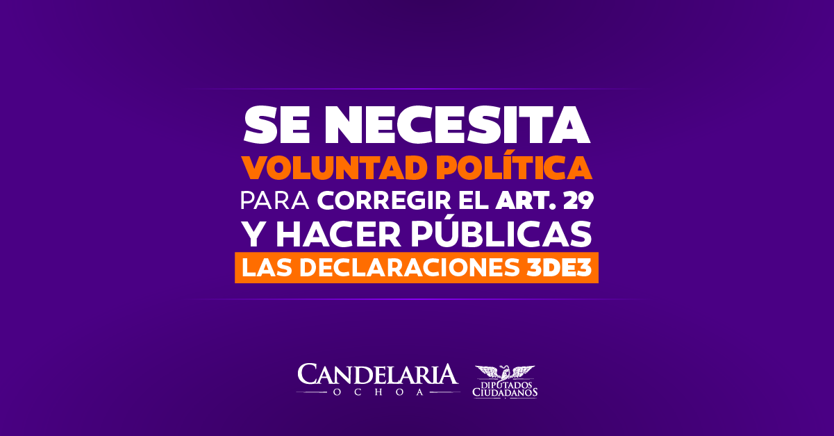 CANDELARIA OCHOA, HACE UN LLAMADO A RESPALDAR LA ACCIÓN DE INCONSTITUCIONALIDAD EN CONTRA DEL ART. 29 DE LA LEY 3 DE 3