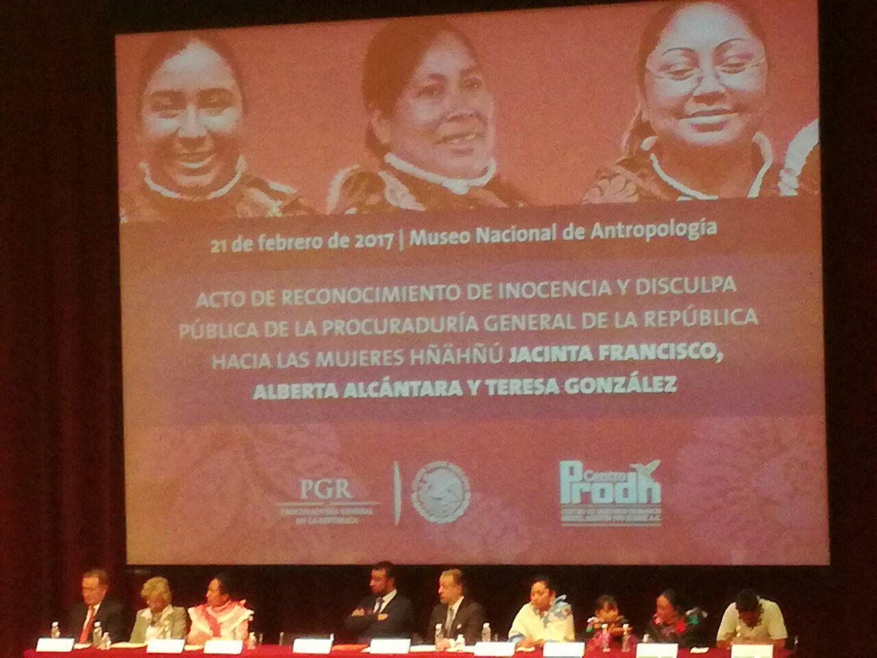 Insuficiente la disculpa pública de la PGR a las 3 indígenas Hñahñu. Se debe castigar a las personas involucradas en el proceso: Candelaria Ochoa
