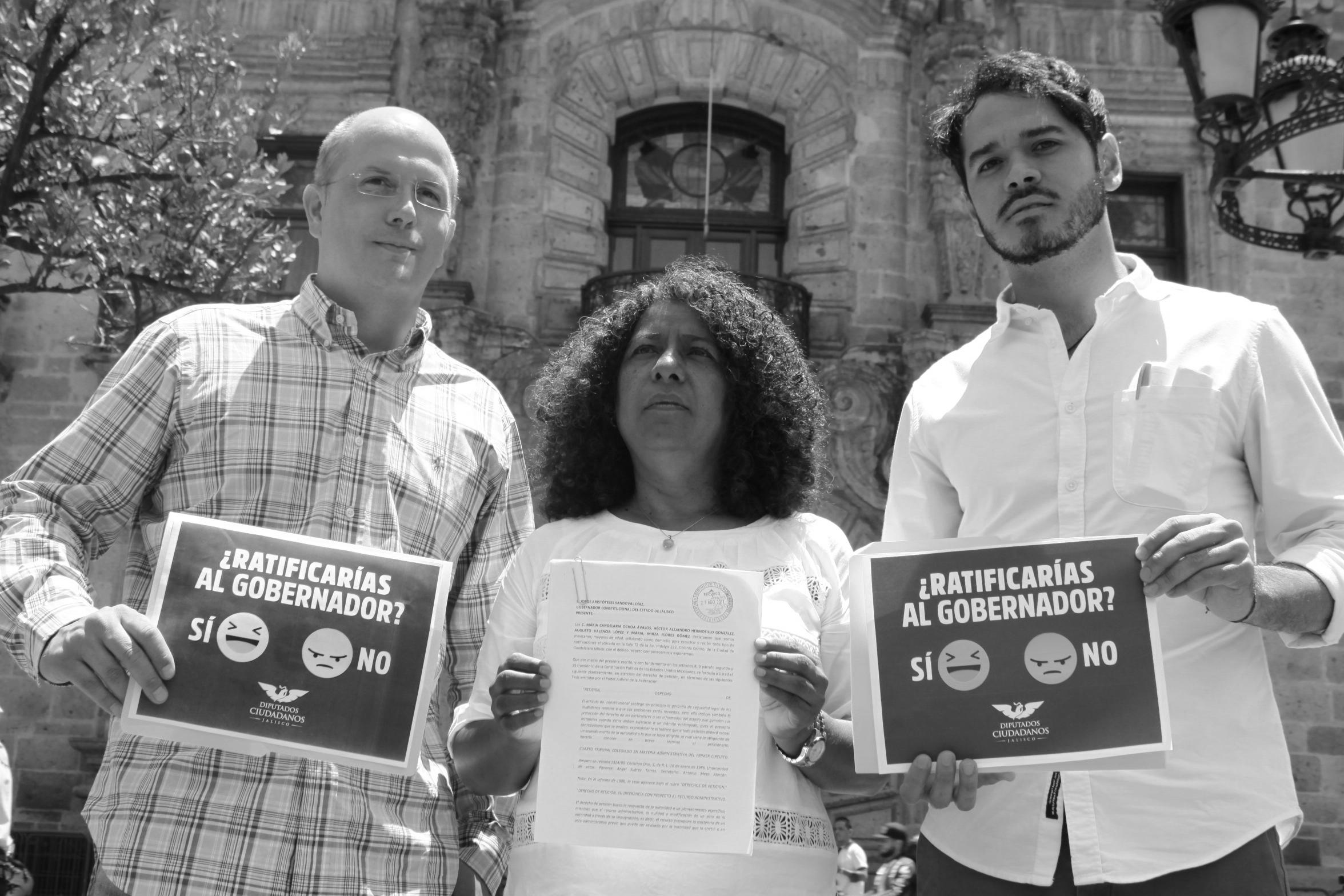 Diputados Ciudadanos piden al gobernador someterse a ratificación