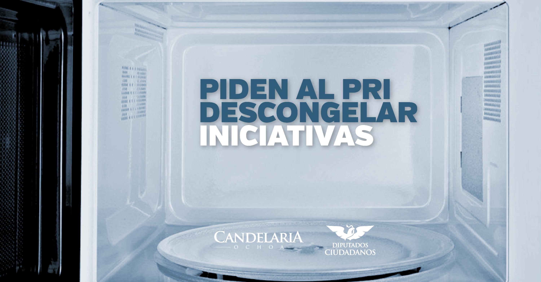 Dan horno a PRI para 'descongelar' iniciativas