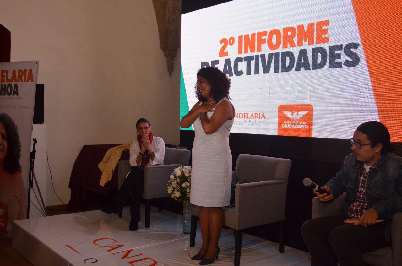 Candelaria Ochoa Rinde Segundo Informe con Ciudadanos